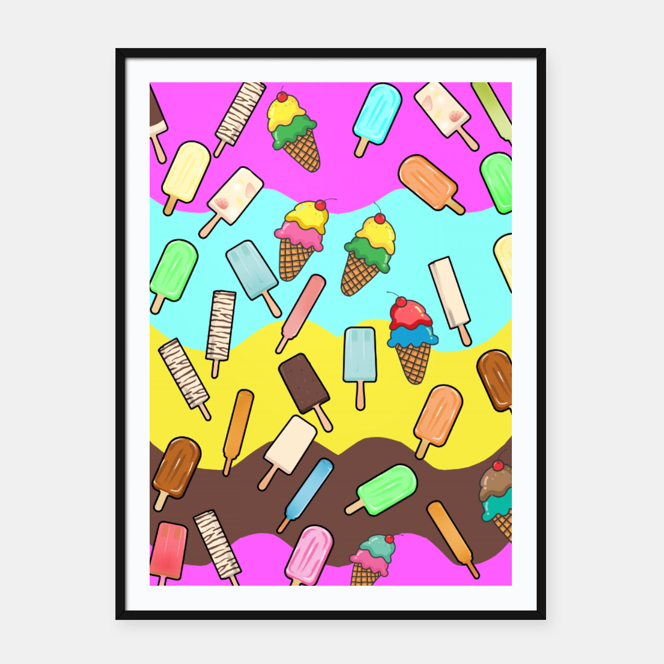 Image of Ice Cream Treats Framed poster - Live Heroes