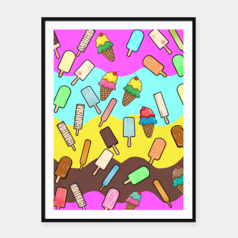 Thumbnail image of Ice Cream Treats Framed poster, Live Heroes