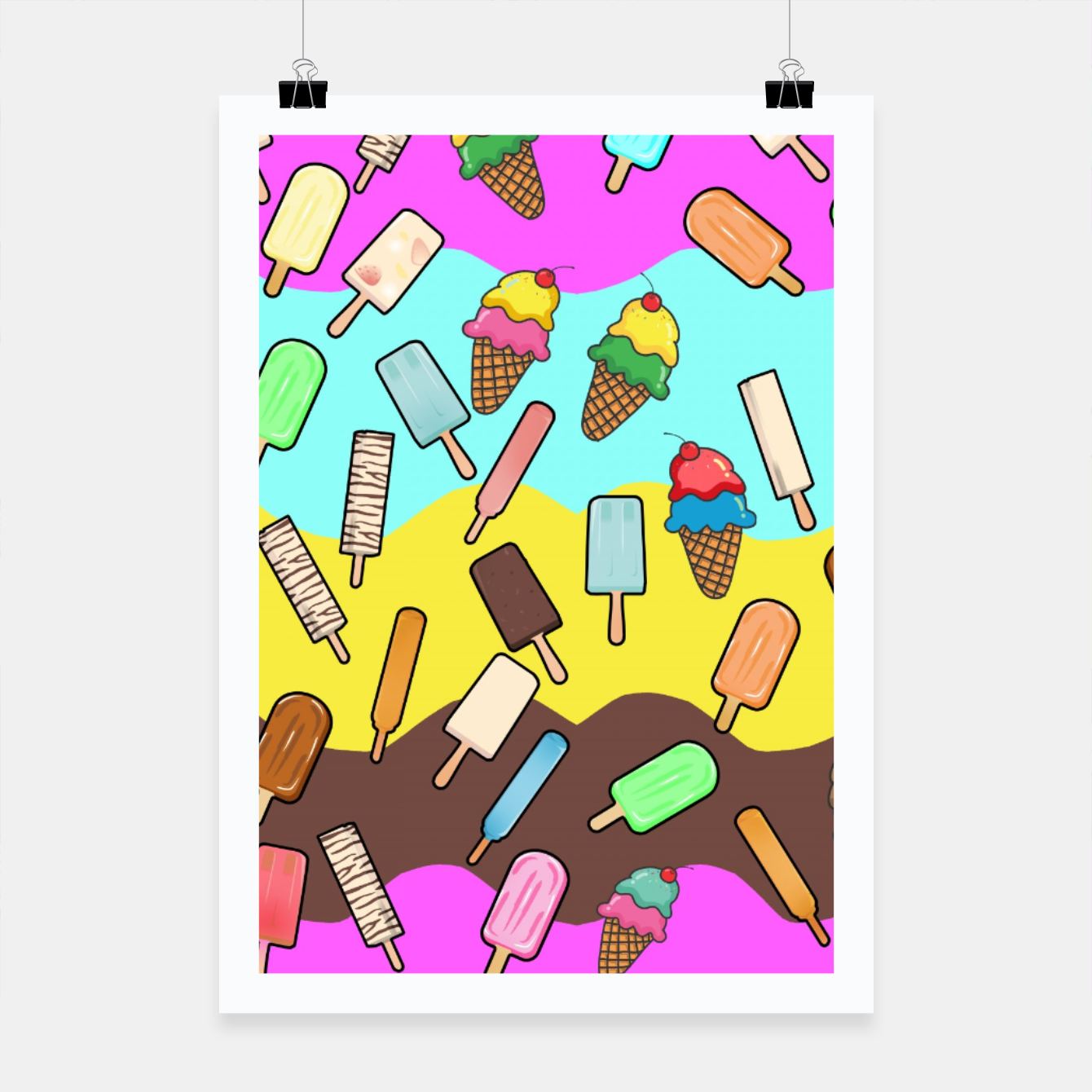 Image of Ice Cream Treats Poster - Live Heroes