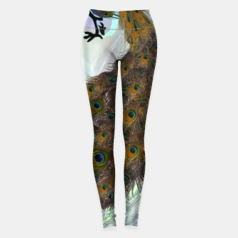 Thumbnail image of Peacock feathers bird Leggings, Live Heroes