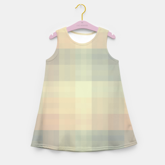Imagen en miniatura de Chequered Candy Pastels Pattern Girl's summer dress, Live Heroes