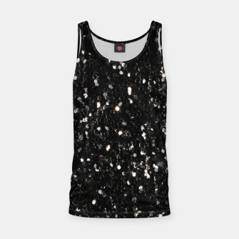 Miniaturka Black and white shiny glitter sparkles Tank Top, Live Heroes