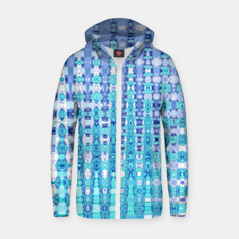 Miniatur Blue Glass Cotton zip up hoodie, Live Heroes