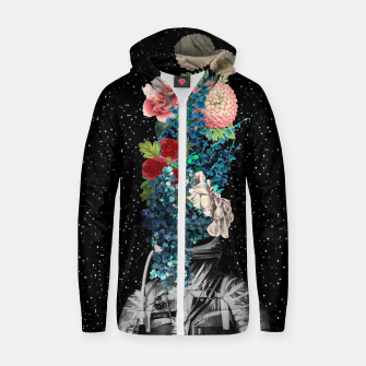 Thumbnail image of Flower Boom Cotton zip up hoodie, Live Heroes