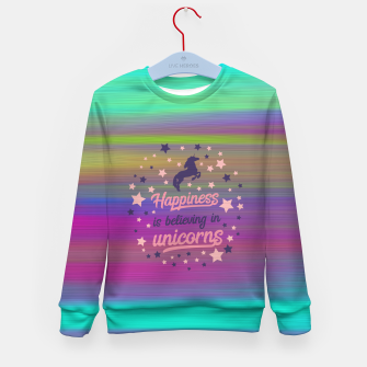 Thumbnail image of Unicorn Kid's sweater, Live Heroes