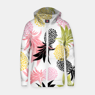 Thumbnail image of Pineapples Cotton zip up hoodie, Live Heroes