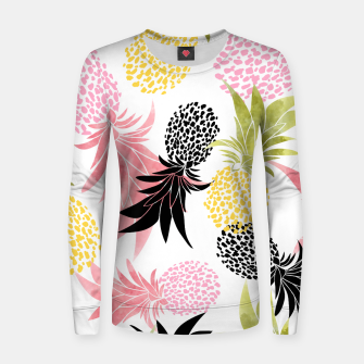 Thumbnail image of Pineapples Woman cotton sweater, Live Heroes