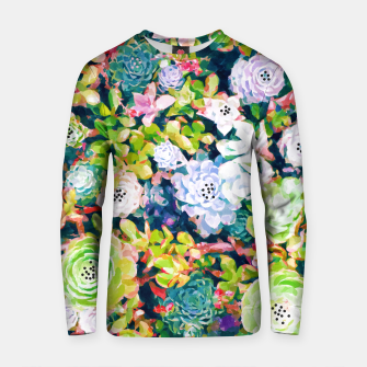 Thumbnail image of Watercolor Succulents Cotton sweater, Live Heroes