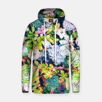 Thumbnail image of Watercolor Succulents Cotton hoodie, Live Heroes