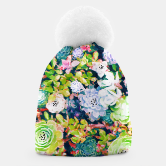 Thumbnail image of Watercolor Succulents Beanie, Live Heroes