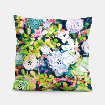 Thumbnail image of Watercolor Succulents Pillow, Live Heroes