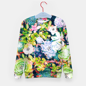 Thumbnail image of Watercolor Succulents Kid's sweater, Live Heroes