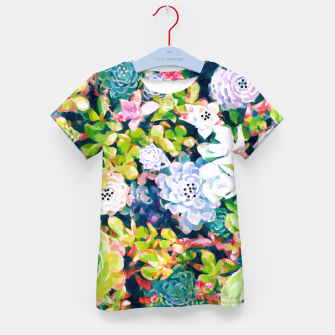 Thumbnail image of Watercolor Succulents Kid's t-shirt, Live Heroes
