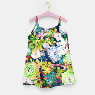 Thumbnail image of Watercolor Succulents Girl's dress, Live Heroes