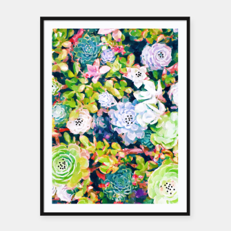 Thumbnail image of Watercolor Succulents Framed poster, Live Heroes