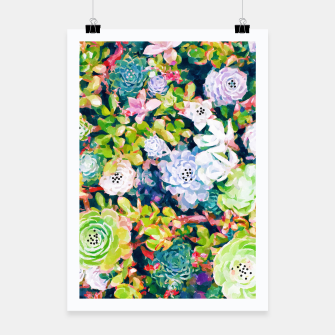 Thumbnail image of Watercolor Succulents Poster, Live Heroes