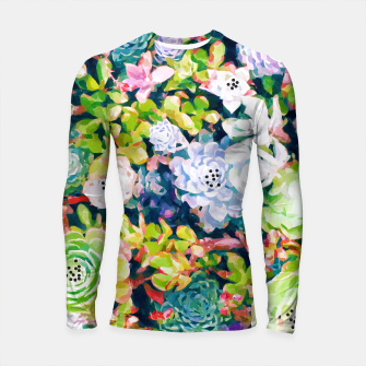 Thumbnail image of Watercolor Succulents Longsleeve rashguard , Live Heroes