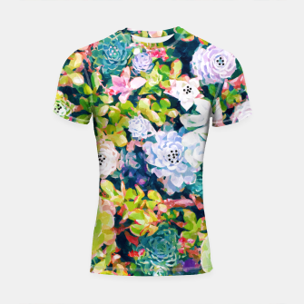 Thumbnail image of Watercolor Succulents Shortsleeve rashguard, Live Heroes