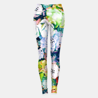 Thumbnail image of Watercolor Succulents Leggings, Live Heroes