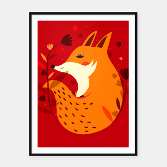 Miniatur Red fox Framed poster, Live Heroes