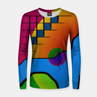 Thumbnail image of Modern art Woman cotton sweater, Live Heroes