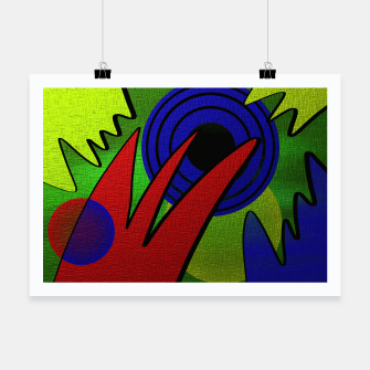 Thumbnail image of Modern art Poster, Live Heroes