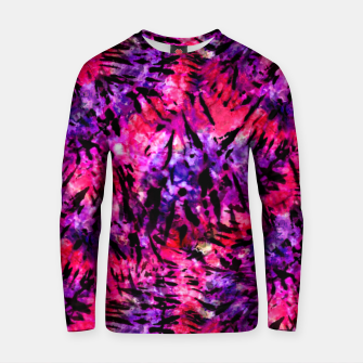 Thumbnail image of Pink and Purple Batik Tie Dye  Cotton sweater, Live Heroes