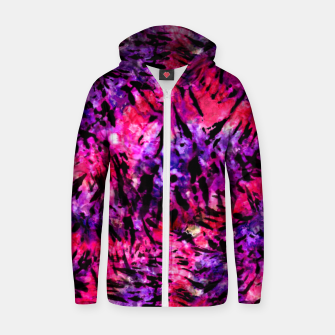Thumbnail image of Pink and Purple Batik Tie Dye  Cotton zip up hoodie, Live Heroes