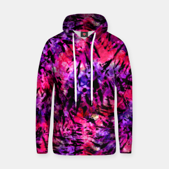 Thumbnail image of Pink and Purple Batik Tie Dye  Cotton hoodie, Live Heroes