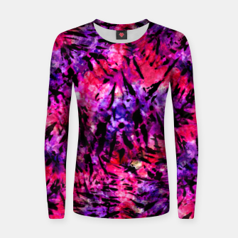 Thumbnail image of Pink and Purple Batik Tie Dye  Woman cotton sweater, Live Heroes