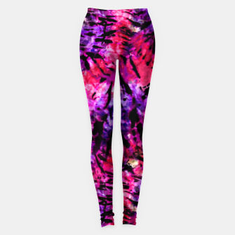Thumbnail image of Pink and Purple Batik Tie Dye  Leggings, Live Heroes