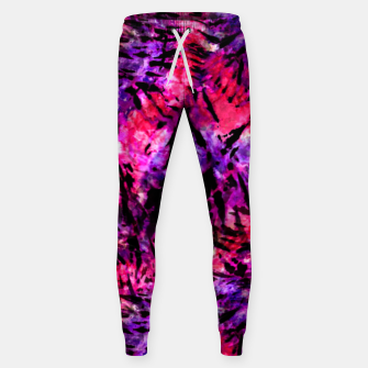 Thumbnail image of Pink and Purple Batik Tie Dye  Cotton sweatpants, Live Heroes