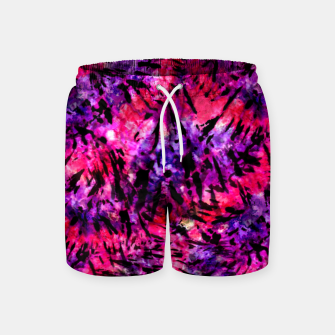 Thumbnail image of Pink and Purple Batik Tie Dye  Swim Shorts, Live Heroes
