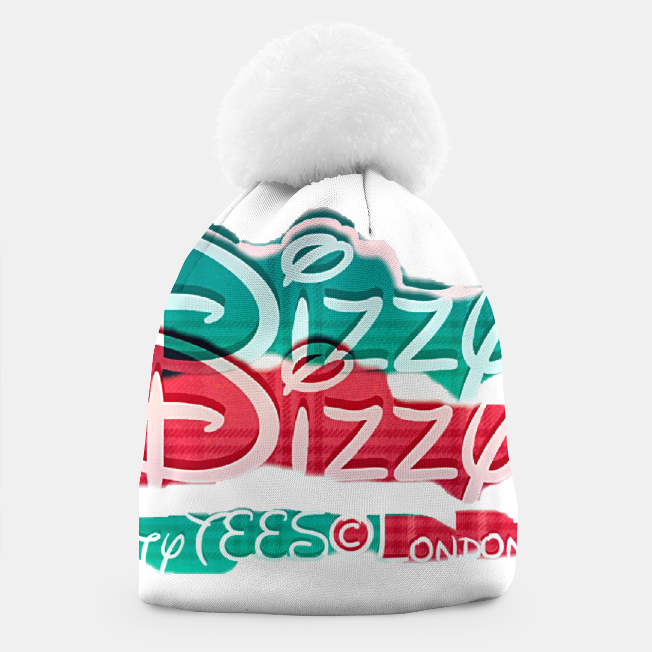 Image of Dizzy Red Green Filter Beanie - Live Heroes