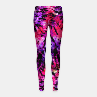 Thumbnail image of Pink and Purple Batik Tie Dye  Girl's leggings, Live Heroes