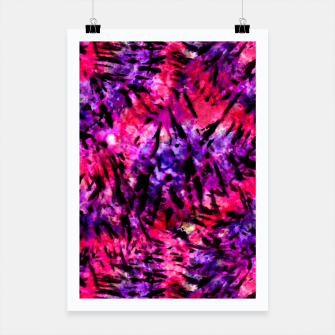Thumbnail image of Pink and Purple Batik Tie Dye  Poster, Live Heroes