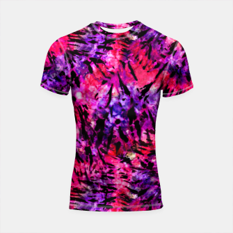 Thumbnail image of Pink and Purple Batik Tie Dye  Shortsleeve rashguard, Live Heroes
