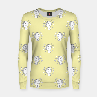 Thumbnail image of Cute Cartoon Drawing Pattern Woman cotton sweater, Live Heroes