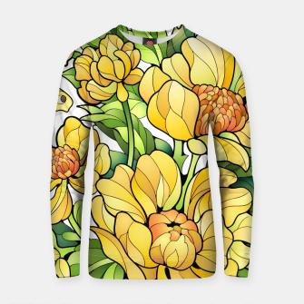 Miniature de image de Yellow Flowers Cotton sweater, Live Heroes