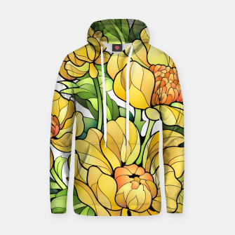 Miniature de image de Yellow Flowers Cotton hoodie, Live Heroes