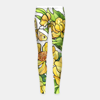 Miniature de image de Yellow Flowers Girl's leggings, Live Heroes