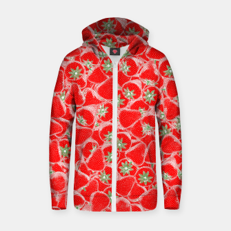 Strawberry Summer Cotton zip up hoodie thumbnail image