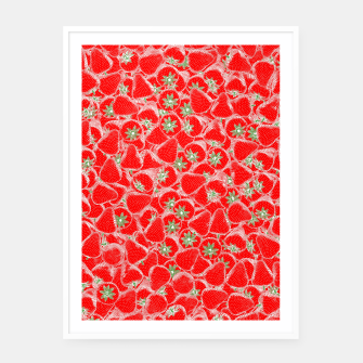 Thumbnail image of Strawberry Summer Framed poster, Live Heroes