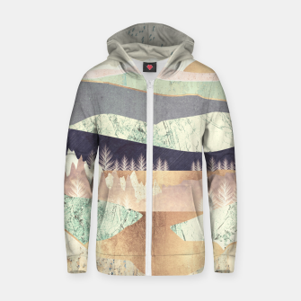 Thumbnail image of Golden Spring Reflection Cotton zip up hoodie, Live Heroes