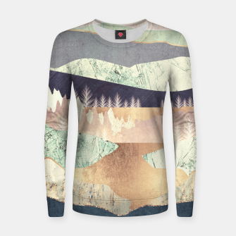 Golden Spring Reflection Woman cotton sweater thumbnail image