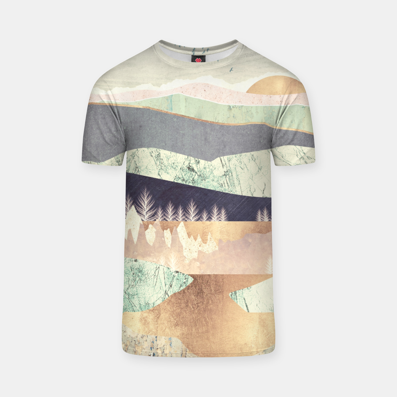 Image of Golden Spring Reflection T-shirt - Live Heroes