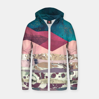 Magenta Mountain Cotton zip up hoodie Bild der Miniatur
