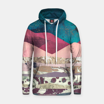 Magenta Mountain Cotton hoodie Bild der Miniatur