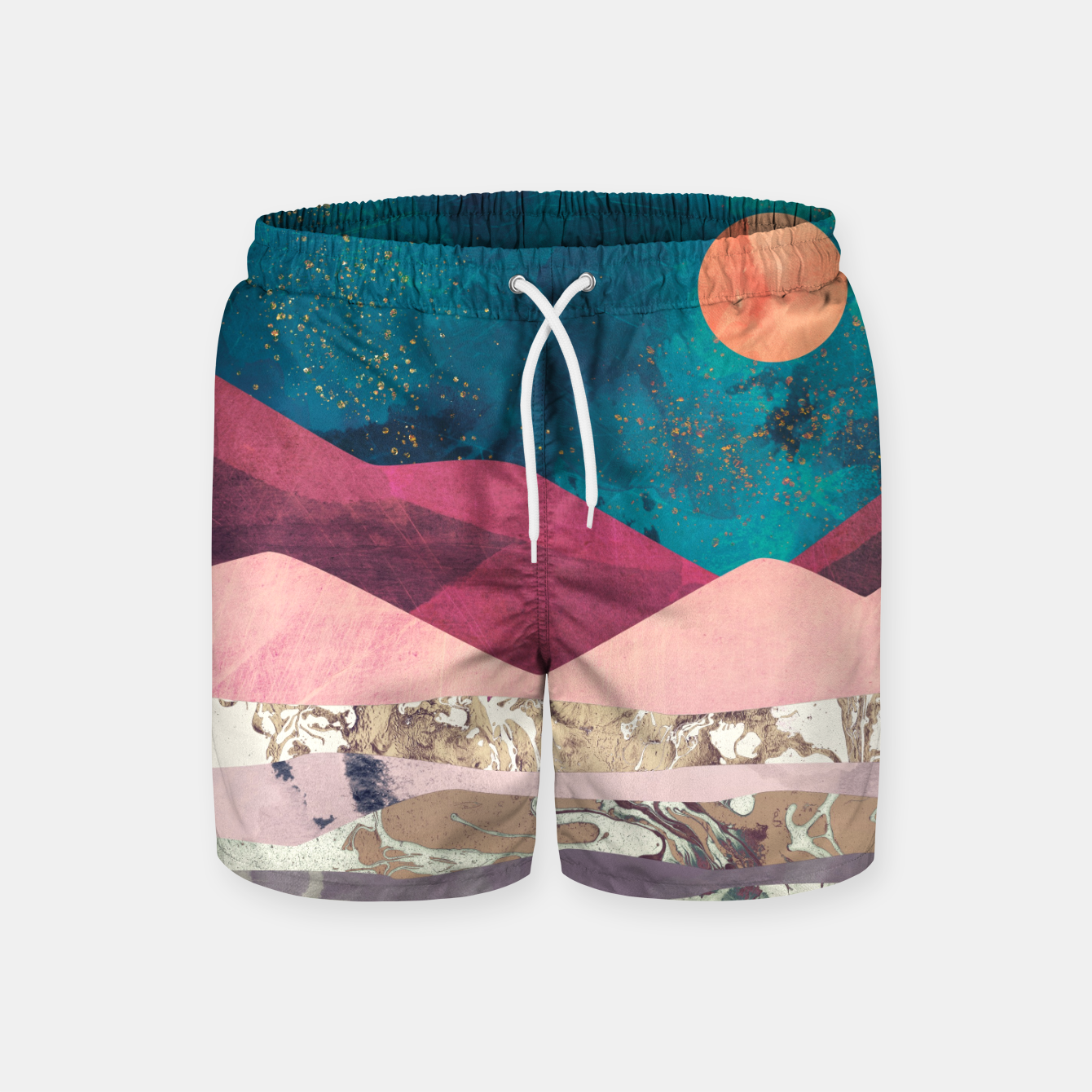 Foto Magenta Mountain Swim Shorts - Live Heroes