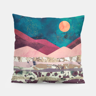 Magenta Mountain Pillow Bild der Miniatur